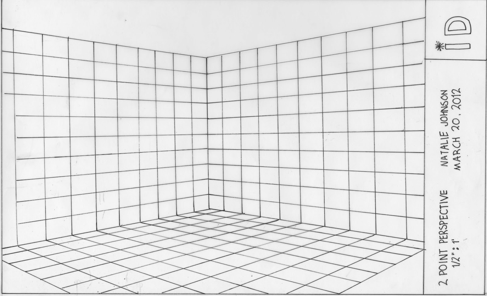 Two point perspective grid pictures to pin on pinterest for Room design template grid